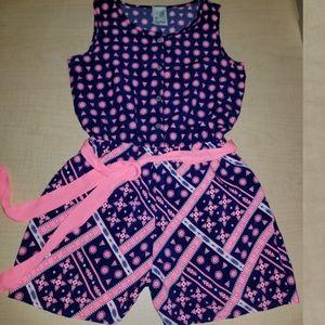 NWOT Lily Bleu Romper with Belt 💗 Girl's Size 14
